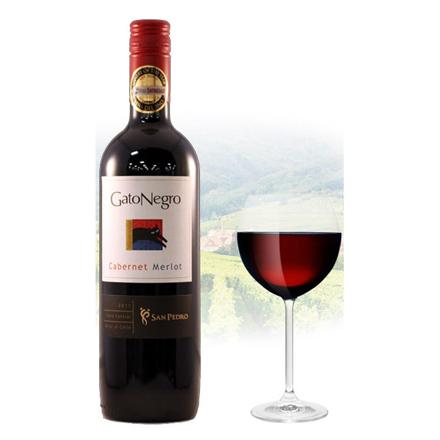图片 Gato Negro Cabernet & Merlot Chilean Red Wine 750 ml, GATONEGROCABERNET