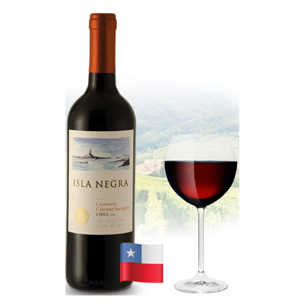 图片 Isla Negra Cabernet Sauvignon & Carmenere Chilean Red Wine 750 ml, ISLANEGRACABERNET