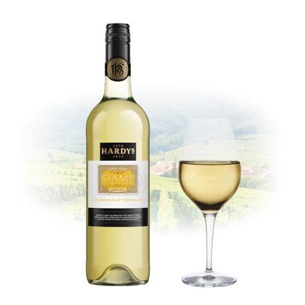 图片 Hardy's Stamp Chardonnay & Sémillon Australian White Wine 750 ml, HARDYSSTAMP