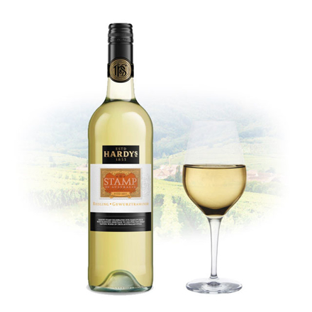 图片 Hardy's Stamp Gewurztraminer Riesling Australian White Wine 750 ml, HARDYSRIESLING
