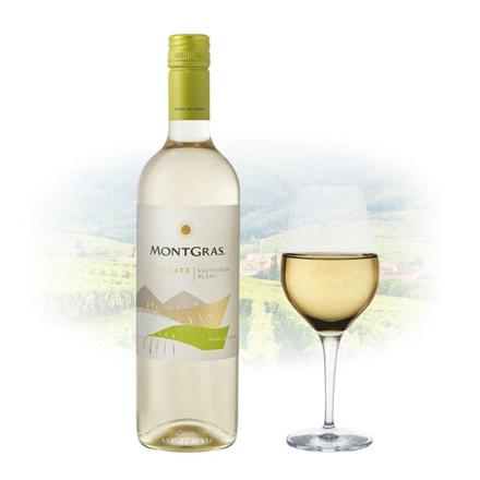 图片 MontGras Estate Sauvignon Blanc Chilean White Wine 750 ml, MONTGRASSAUVIGNON