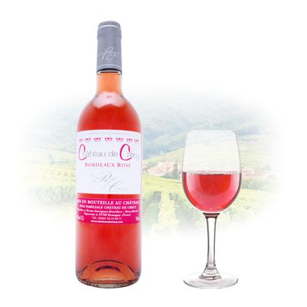 图片 Chateau de Crécy La Rose Bordeaux Rose French Pink Wine 750 ml, CHATEAUDECRECYROSE