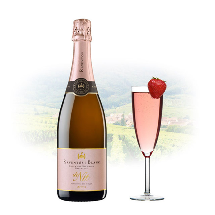 图片 Raventos Blanc de Nit Brut Rose Spanish Sparkling Wine 750 ml, RAVENTOSROSE