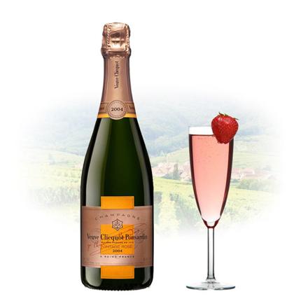 图片 Veuve Clicquot Rose Vintage 2004 Champagne 750 ml, VEUVEROSE2004