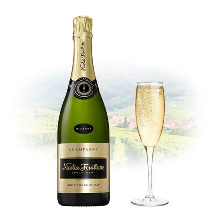 图片 Nicolas Feuillatte Brut Blanc de Blancs Champagne 750 ml, NICOLASDEBLANCS