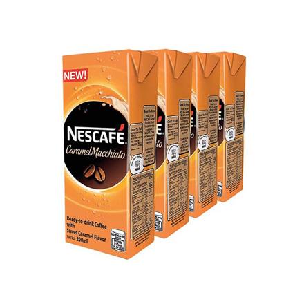图片 Nescafe Ready To Drink Coffee (Caramel Macchiato, Chilled Mocha, Fresh Vanilla) 200ml - Pack of 4