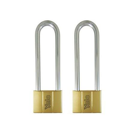 图片 Yale Padlock Solid Brass 60mm 128mm Shackle 2 pc KA, YLHV14060LS120KAX2