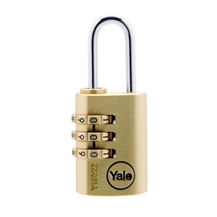 图片 Yale Padlock Solid Brass 20mm Combination, YLHV68820