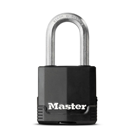 图片 Master Lock Padlock Laminated Steel 49mm 38mm Shackle, MSPM115DLF