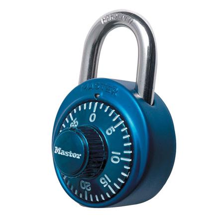 图片 Master Lock Padlock Dial Combination 48mm 19mm Shackle (Blue, Red, Black, Purple), MSP1530DCMBLU