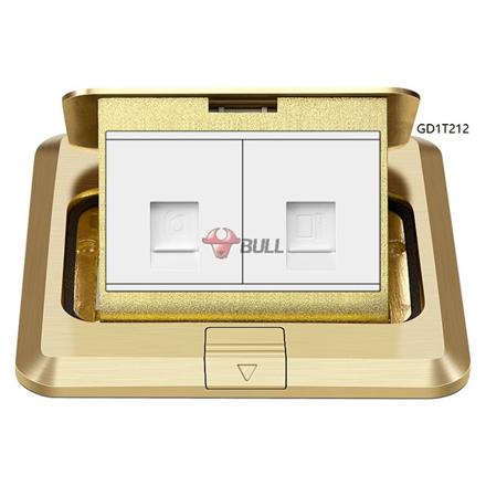 图片 Bull Telephone and Computer Floor Socket (White), GD1T212