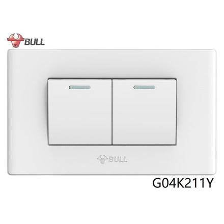 图片 Bull 2 Gang 1 Way Switch Set (White), G04K211Y