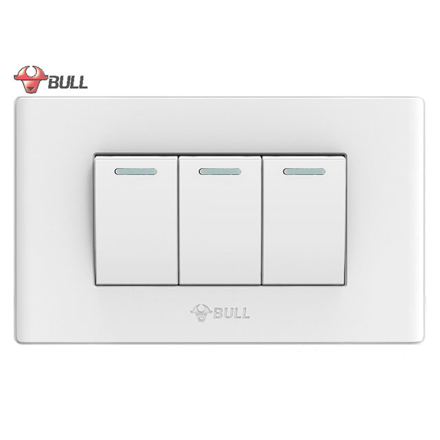图片 Bull 3 Gang 3 Way Switch Set (White), G04K322A