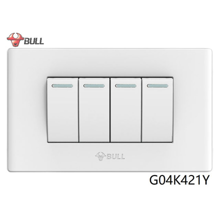 图片 Bull 4 Gang 1 Way Switch Set (White), G04K421Y