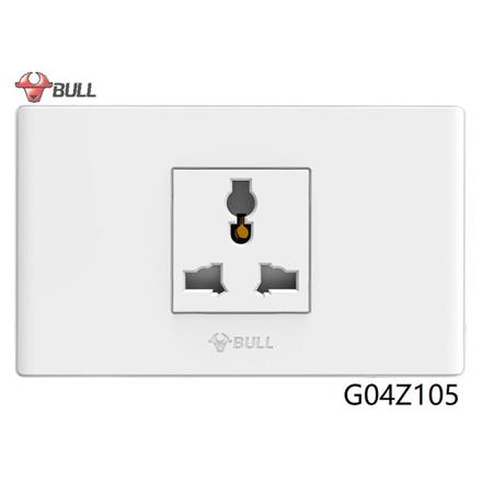 图片 Bull 1 Gang Universal Outlet Set (White), G04Z105
