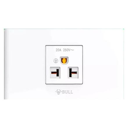图片 Bull 1 Gang Air Tandem Outlet Set (White), G04Z110