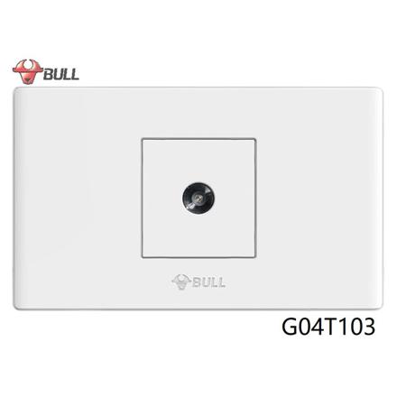 图片 Bull 1 Gang TV Cable Outlet (White), G04T103