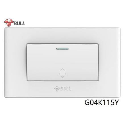 图片 Bull 1 Gang Doorbell Switch Set (White), G04K115Y