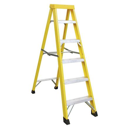 图片 Jinmao 5 Step Fiberglass Step Ladder 250 lbs, JMFM22105I