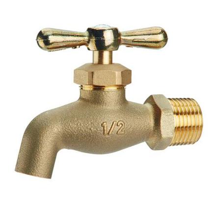 图片 Omega Brass Faucet Screw Type with Plain Bib 1/2 in (Small and Large), BC-1100