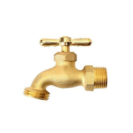 图片 Omega Brass Faucet Screw Type with Hose Bib 1/2 in x 3/4 in(Small and Large), BC-1120