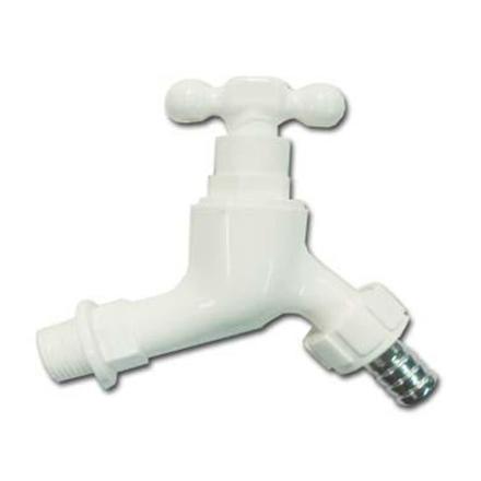 图片 Omega Plastic Tap Faucet Screw Type with Hose Bib 1/2 inch x 4 in, PT-8128