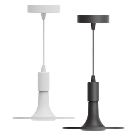 图片 Firefly Functional LED 3-Step Dimming Ceiling Lamp with E27 Pendant Socket (White and Black), FCL238012CW/W
