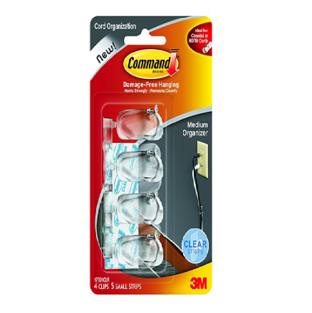 Picture of 3M Command Clear Cord Organizer Medium