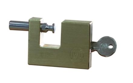 Picture of EL Block Brass Padlock ELBL7060
