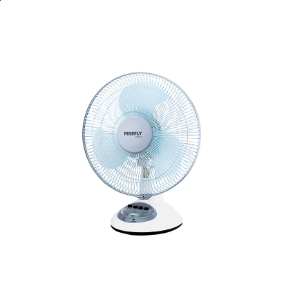"""Picture of Firefly 12"""" Multi-angle Tilting 2-Speed Oscillating Fan with 4 LED Night Light FEL616"""
