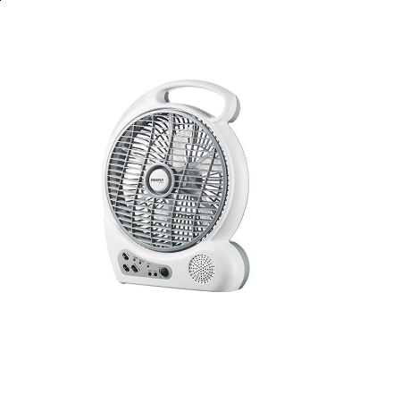"""Picture of Firefly 10"""" Oscillating 2-Speed Fan with 4 LED Night Light,USB Mobile Phone Charger& FM Scan Radio FEL626"""
