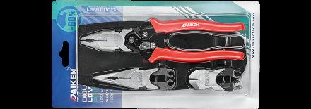 Picture of Daiken 3 In 1 Hi Leverage Interchangeable Head Plier Set DPS-03WQ