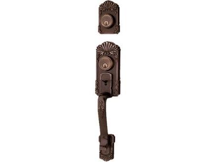 Picture of Ezset 1C Deadbolt Antique Brass Double Handle EZBP400GUUS5