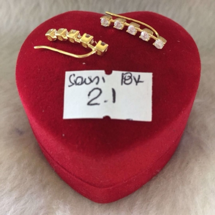 Picture of 18K - Saudi Gold Jewelry, Earrings - 2.1g