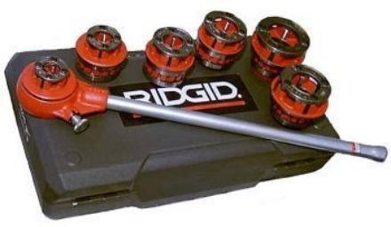 圖片 Ridgid Pipe Threader Manual or Machine Set 1/2 - 1