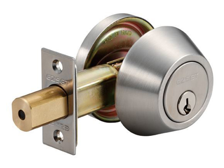 Picture of Ezset Deadbolt Single Cyl. Zinc. Cyl. House Satin Stainless Steel