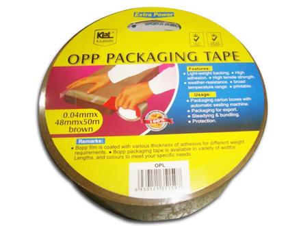 圖片 KL & LING Packaging Tape 48MM X 50M Brown, KIOPLBRN