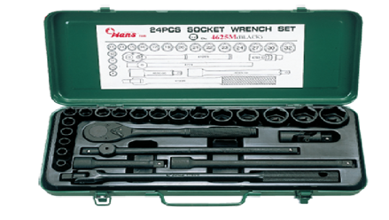 "Picture of Hans 1/2"" DR. 25 Pcs. Socket Wrench Set"