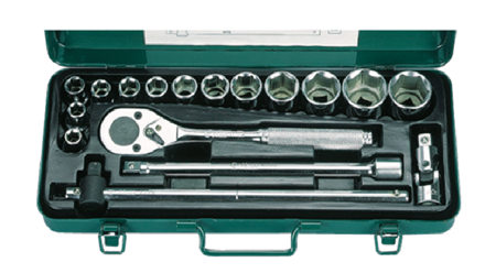 Picture of Hans 17 Pcs.12 Pts. Socket Wrench Set - Metric Size
