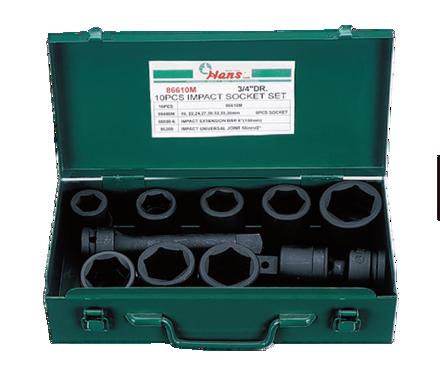 圖片 Hans 10 Pcs. Impact Socket Set - MODEL NO. 86610AA - Inches Size