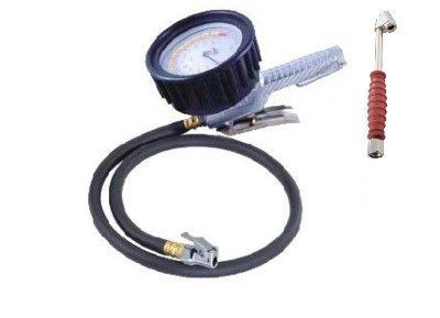 """Picture of THB 4"""" Dial Inflator Gauge 0-200psi w/36"""" Hose"""