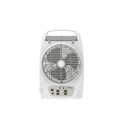"""圖片 Firefly 8"""" Oscillating 2-Speed Fan with 18 LED Desk Lamp,Torch Light & USB Mobile Phone Charger FEL625"""