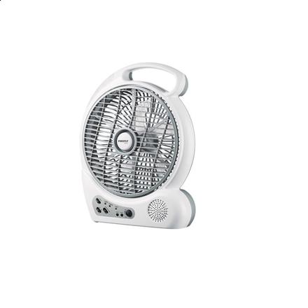 """圖片 Firefly 10"""" Oscillating 2-Speed Fan with 4 LED Night Light,USB Mobile Phone Charger& FM Scan Radio FEL626"""
