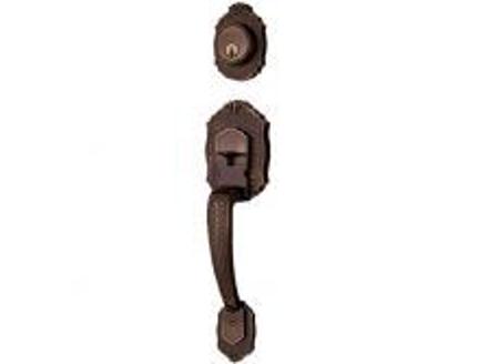 Picture of Ezset 1C Deadbolt Antique Brass Double Hadle EZBP400PEUS55