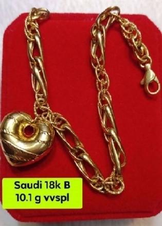 Picture of 18K - Saudi Gold Jewelry, Bracelet - 10.1G