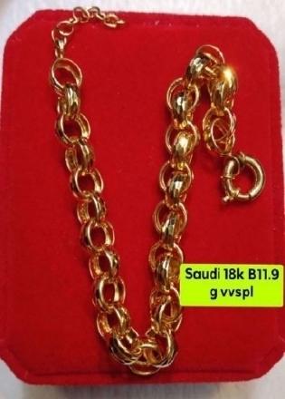 Picture of 18K - Saudi Gold Jewelry, Bracelet - 11.9G