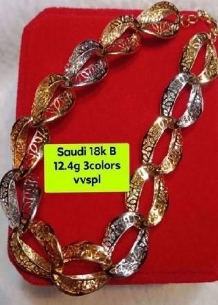 Picture of 18K - Saudi Gold Jewelry, Bracelet - 12.4G
