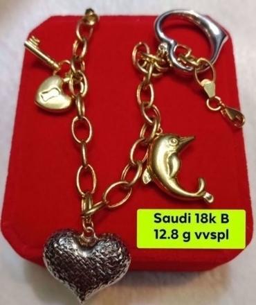 Picture of 18K - Saudi Gold Jewelry, Bracelet - 12.8G