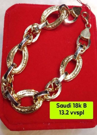 Picture of 18K - Saudi Gold Jewelry, Bracelet - 13.2G1