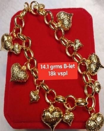 Picture of 18K - Saudi Gold Jewelry, Bracelet - 14.1G